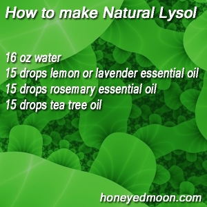 how to make lysol naturally